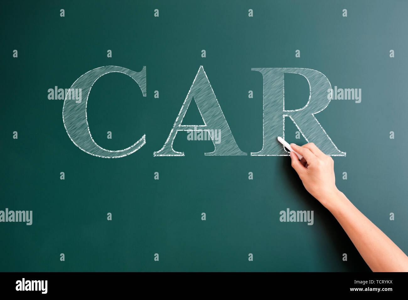 car written on blackboard - Stock Image