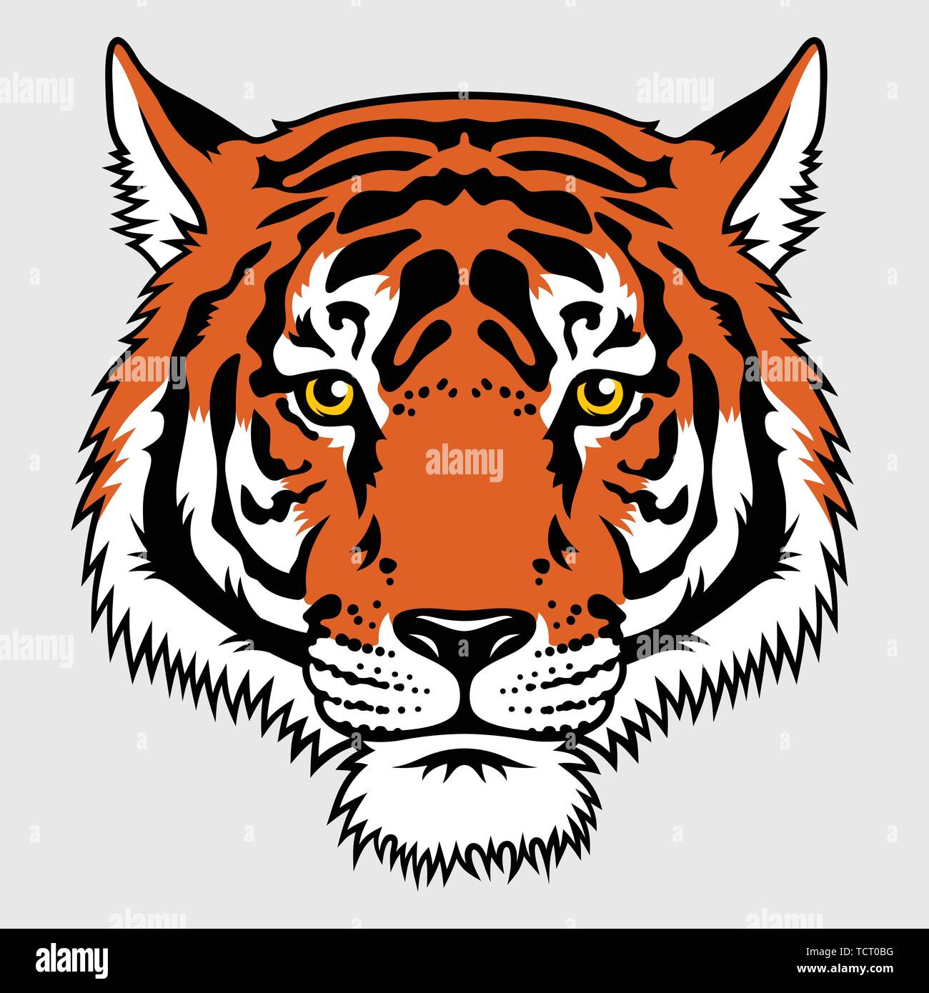 Japanese Tiger patch embroidery. Vector. T-shirt print design. Tee graphics - Stock Vector
