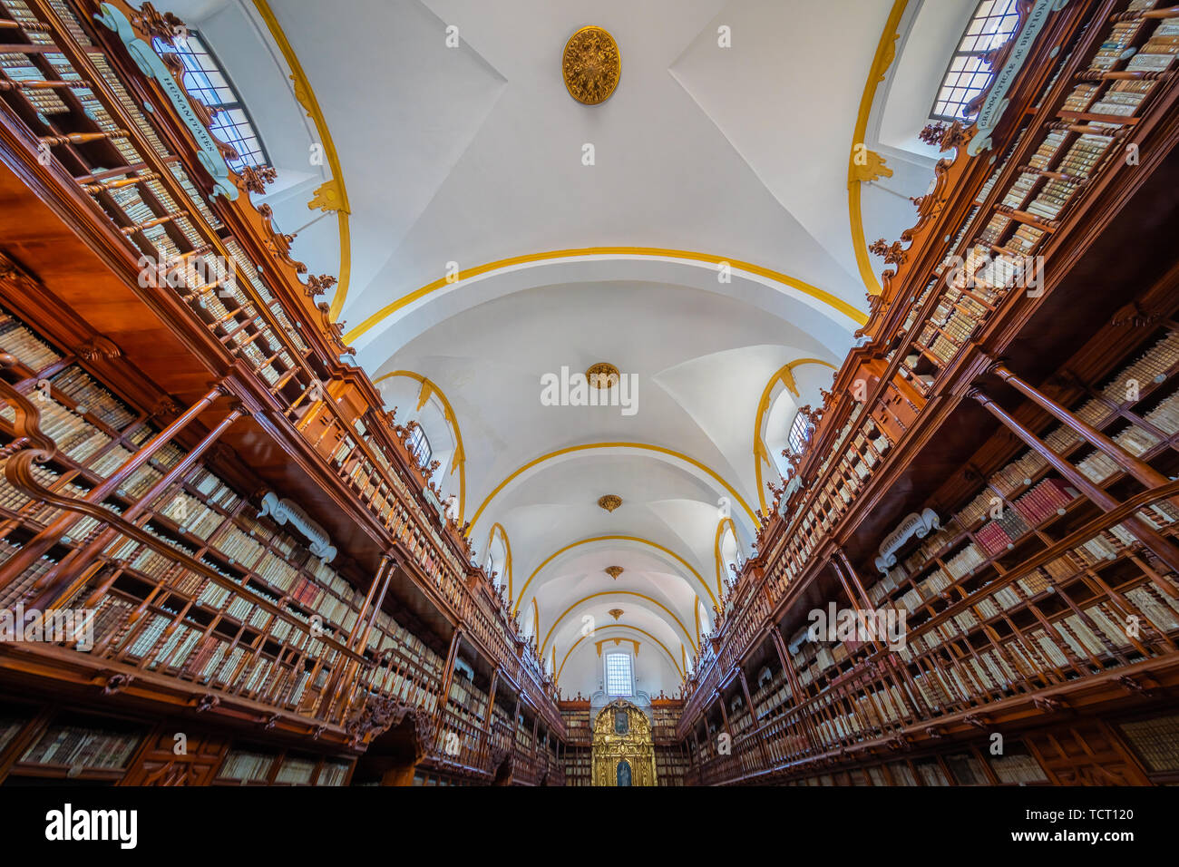 The Biblioteca Palafoxiana is a library in Puebla, Mexico. - Stock Image