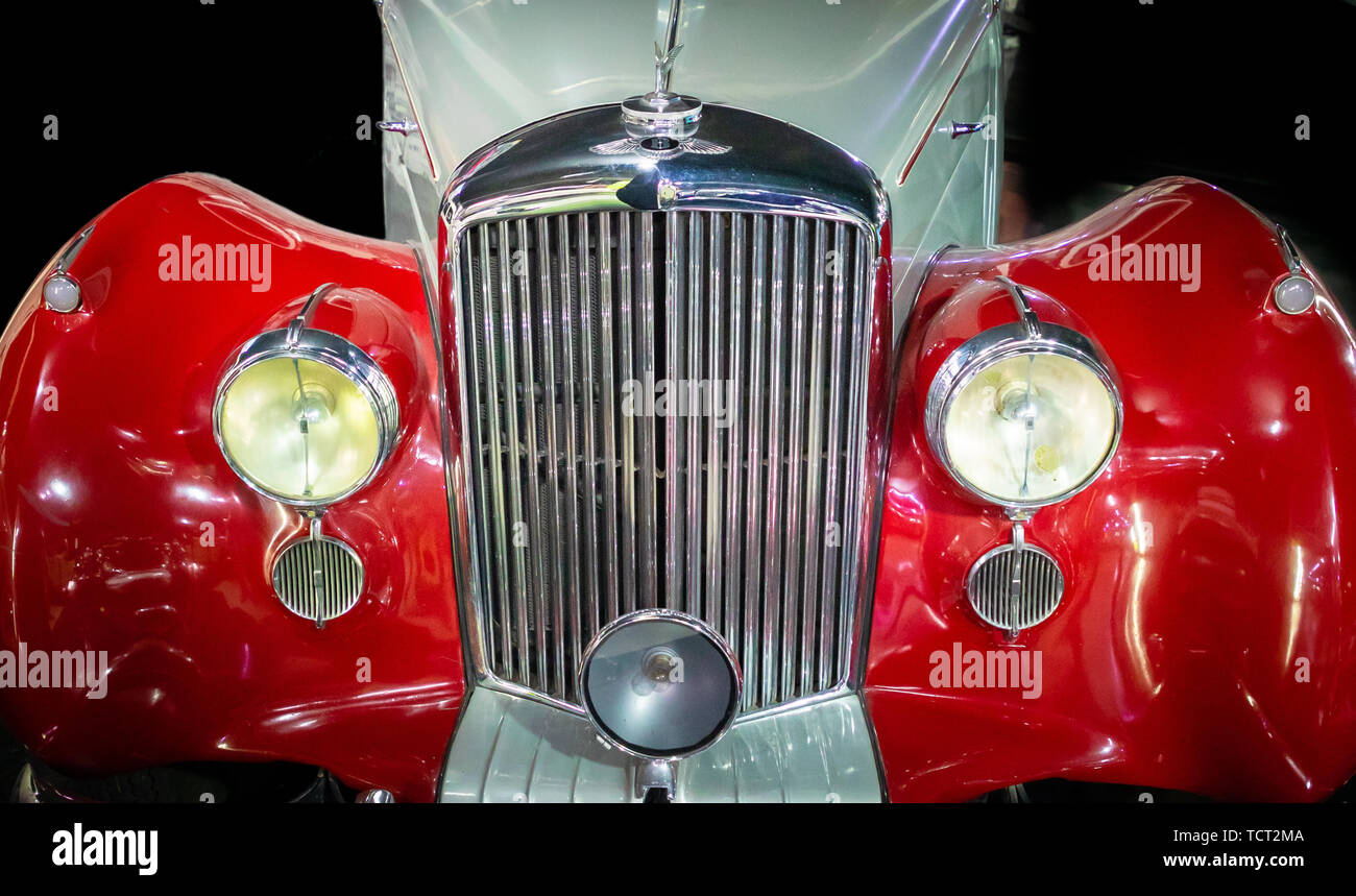 Car at the Museo de Automovil in Puebla, Mexico - Stock Image