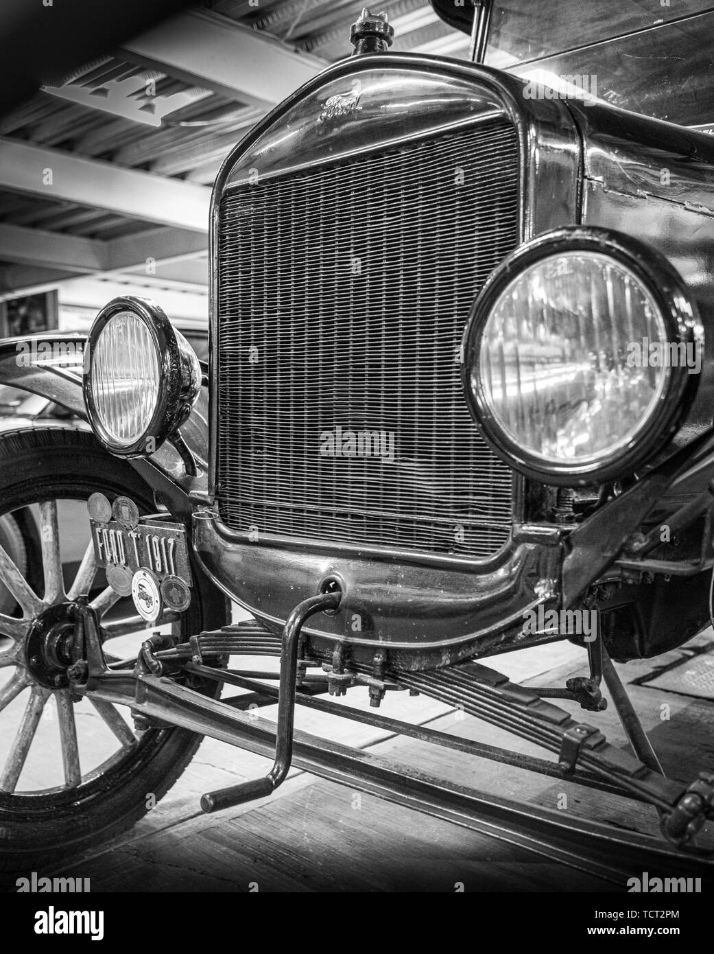 Ford Model T at the Museo de Automovil in Puebla, Mexico. - Stock Image