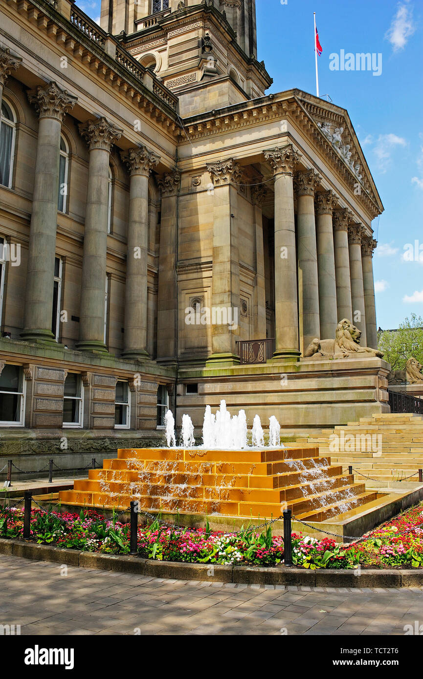 Bolton Town Hall,Greater Manchester,England,UK - Stock Image