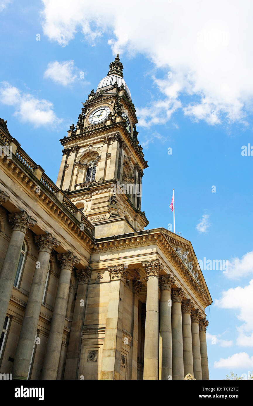 Bolton Town Hall,Greater Manchester,England,UK Stock Photo