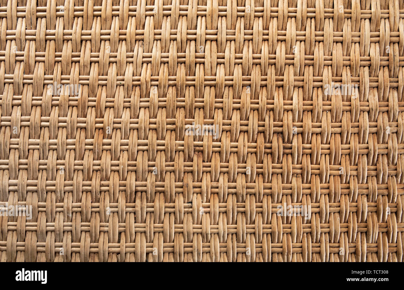 Abstract decorative wooden textured basket weaving background - Stock Image