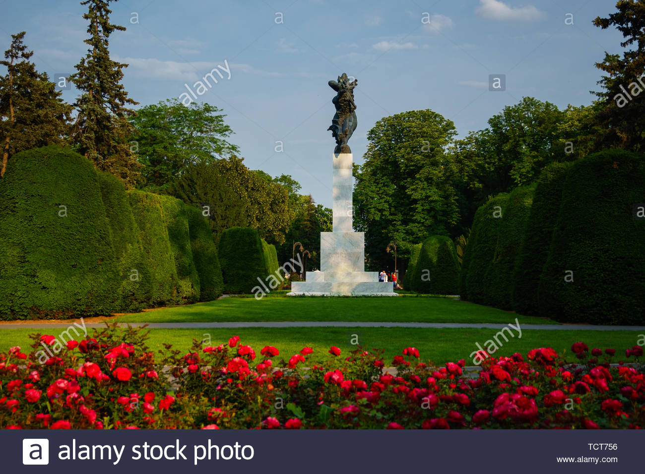 Monument of gratitude to France for the assistance in WW1 at fortress of Belgrade - Stock Image