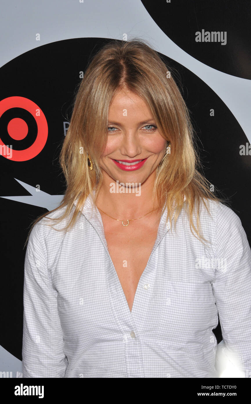 "LOS ANGELES, CA. October 01, 2008: Cameron Diaz at AFI's Night at the Movies event at the Arclight Theatre, Hollywood. Cameron presented her movie ""There's Something About Mary."" © 2008 Paul Smith / Featureflash Stock Photo"