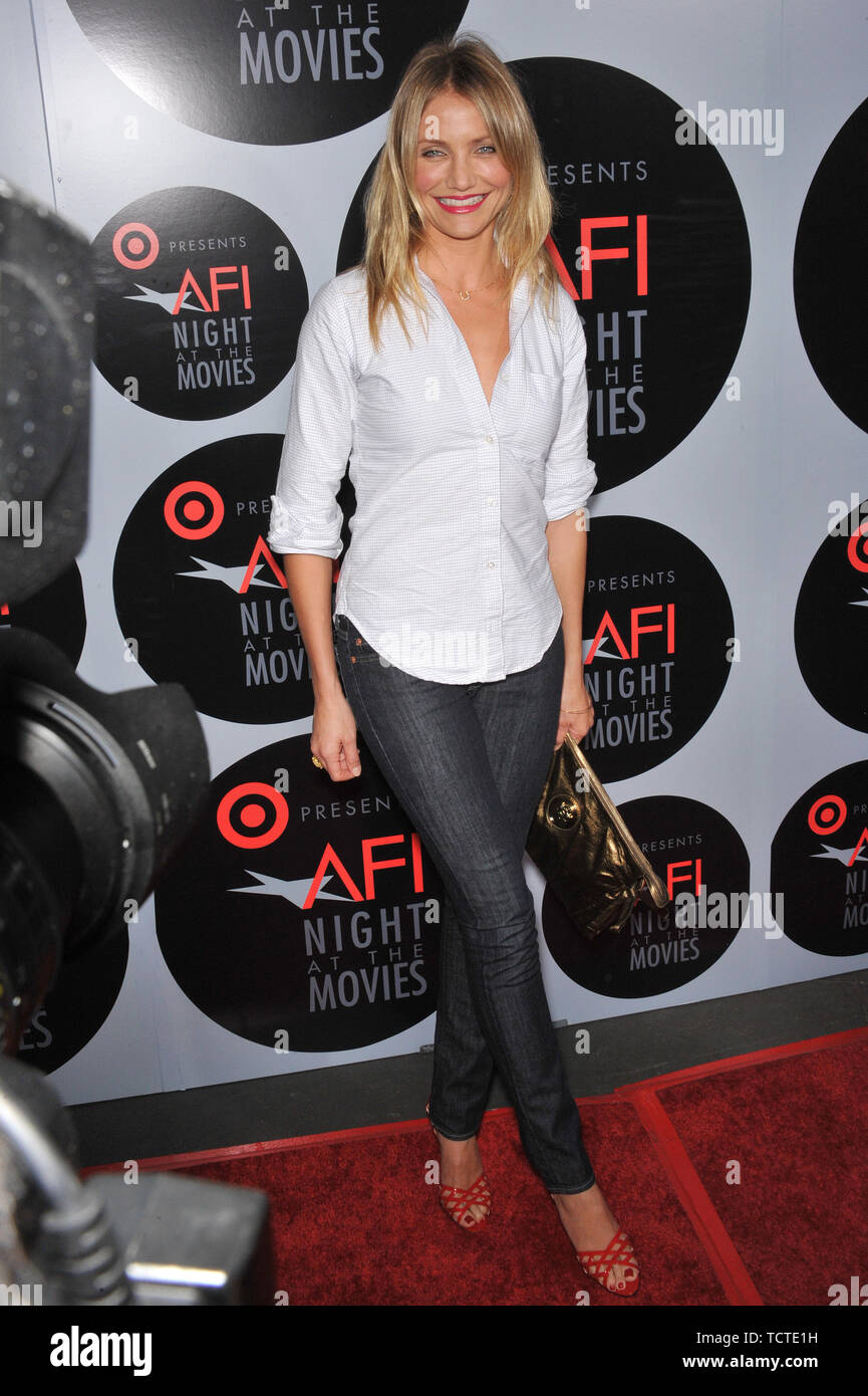 LOS ANGELES, CA. October 01, 2008: Cameron Diaz at AFI's Night at the Movies event at the Arclight Theatre, Hollywood. Cameron presented her movie 'There's Something About Mary.' © 2008 Paul Smith / Featureflash - Stock Image
