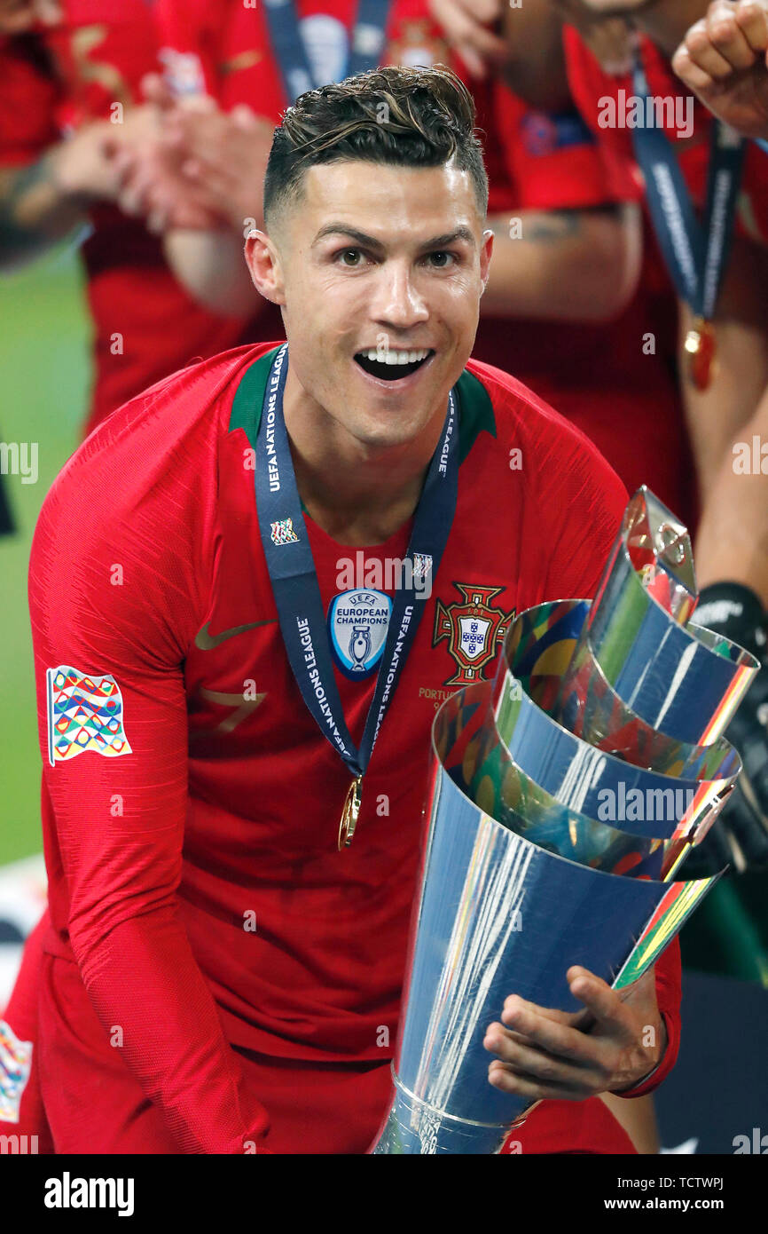 Porto Portugal 09th June 2019 Porto 09 06 2019 Estadio Dragao Uefa Nations League Final Between Portugal And The Netherlands Cristiano Ronaldo During The Game Portugal Netherlands 1 0 Credit Pro Shots Alamy Live News