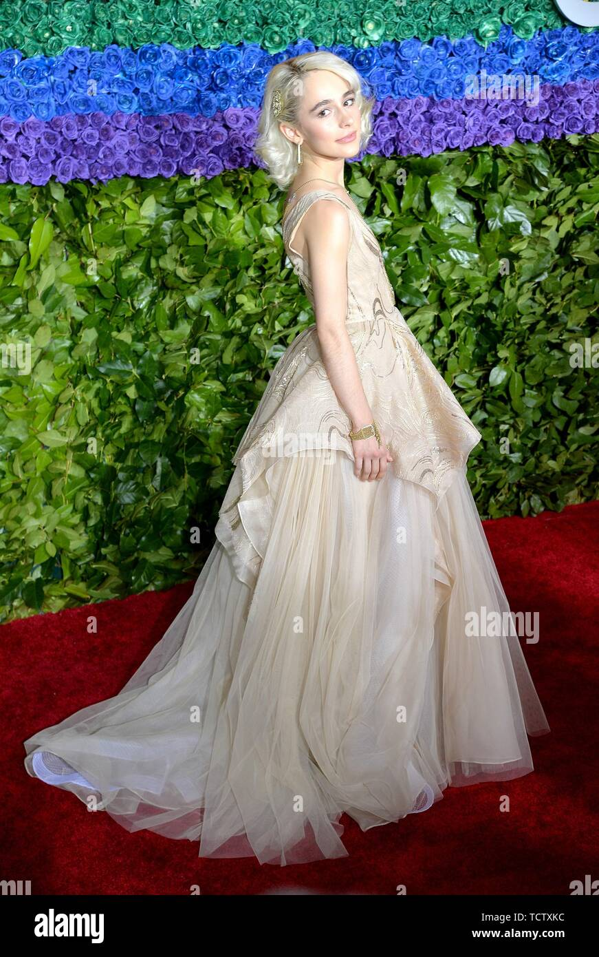 Sophia Ann Caruso at arrivals for 73rd Annual Tony Awards - Part 2, Radio City Music Hall at Rockefeller Center, New York, NY June 9, 2019. Photo By: Kristin Callahan/Everett Collection Stock Photo