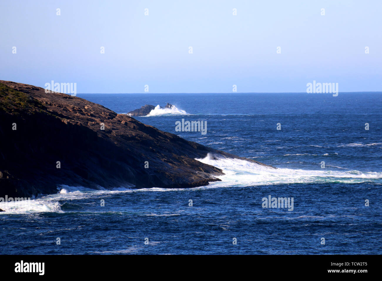 A choppy bay. Stock Photo