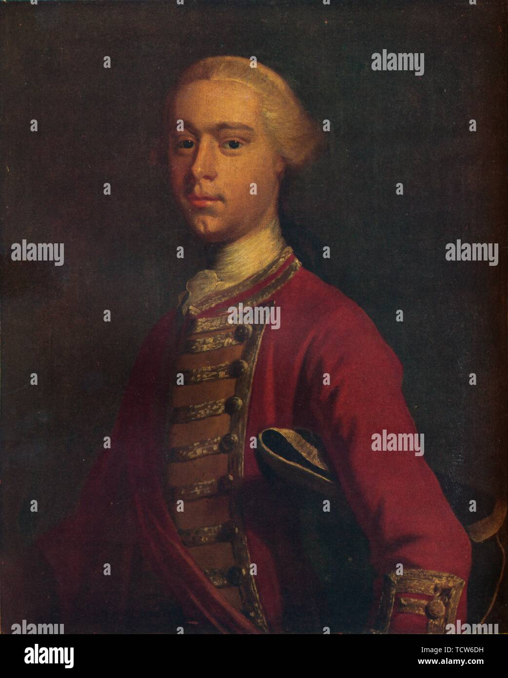 "'General James Wolfe (1727-1759) as a Young Man', 19th century, (1930). Portrait of British Army officer James Wolfe who died during the successful battle to take Quebec from the French in 1759 during the Seven Years War. Painting in the National Trust collection at Quebec House, Westerham, Kent. From ""The Connoisseur"", Volume 86, edited by C. Reginald Grundy. [The Connoisseur Ltd, London, 1930] - Stock Image"