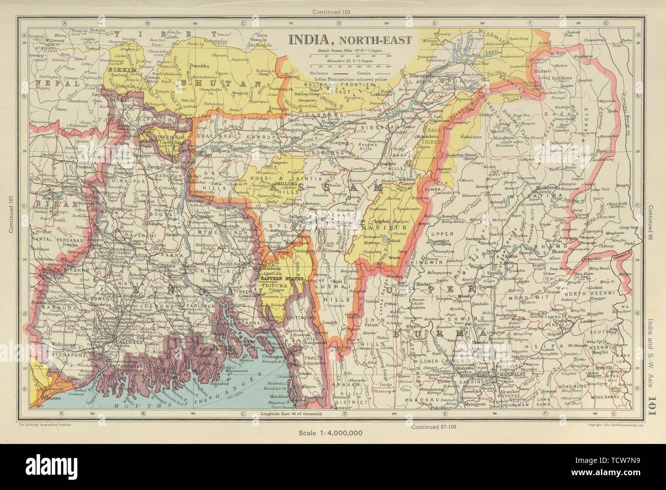 Map Of Upper Asia.Assam India Asia Map Stock Photos Assam India Asia Map Stock