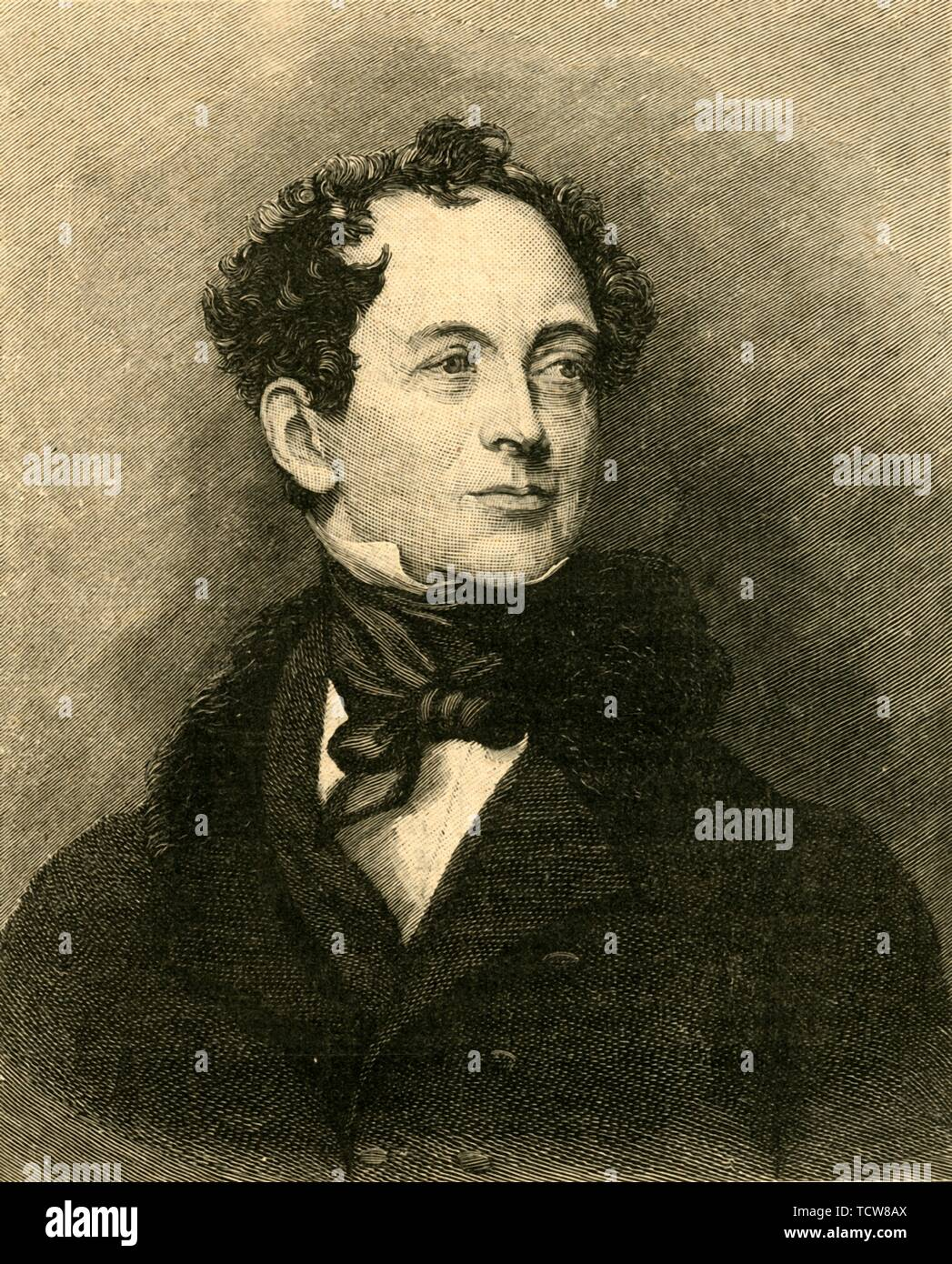 Thomas Moore, Irish poet and biographer of Lord Byron, c1829 (c1890). Creator: Unknown. - Stock Image