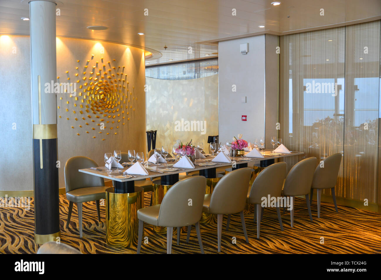 Shanghai China Jun 4 2019 High Class Luxury Restaurant