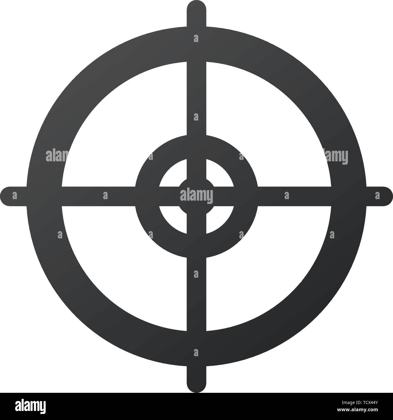 target aim icon vector illustration isolated on white background stock vector image art alamy alamy