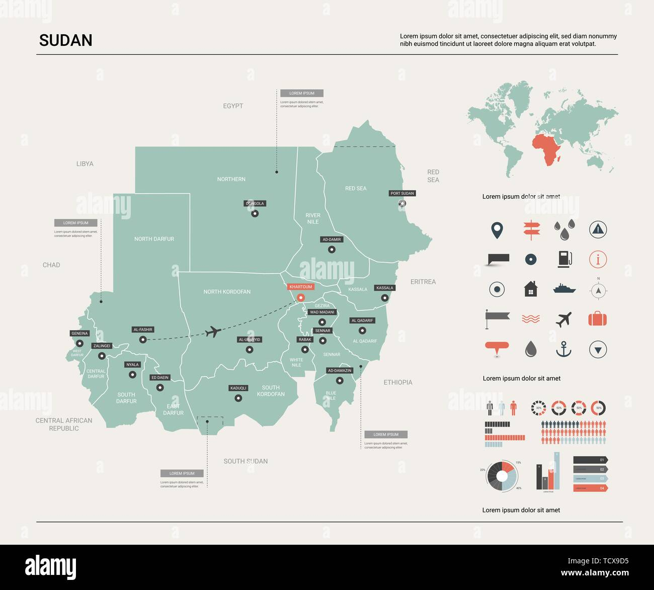 Vector map of Sudan. Country map with division, cities and capital on barcelona location on world map, stockholm location on world map, red sea location on world map, united states location on world map, bangalore location on world map, warsaw location on world map, frankfurt location on world map, melbourne location on world map, athens location on world map, mogadishu location on world map, mexico city location on world map, vancouver location on world map, bogota location on world map, lagos location on world map, santo domingo location on world map, toronto location on world map, santiago location on world map, hong kong location on world map, brussels location on world map, auckland location on world map,