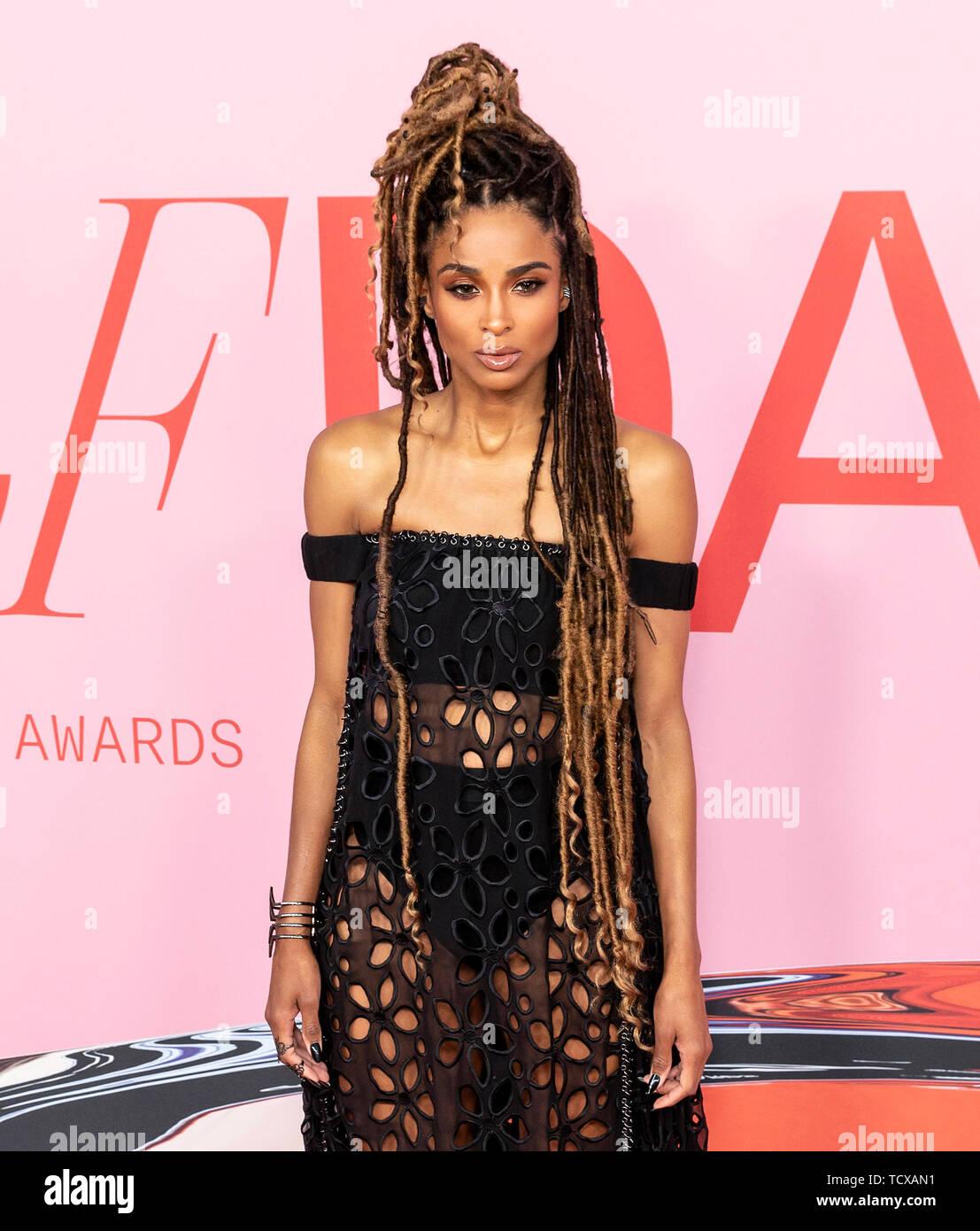 New York, NY - June 03, 2019: Ciara attends 2019 CFDA Fashion Awards at Brooklyn Museum - Stock Image