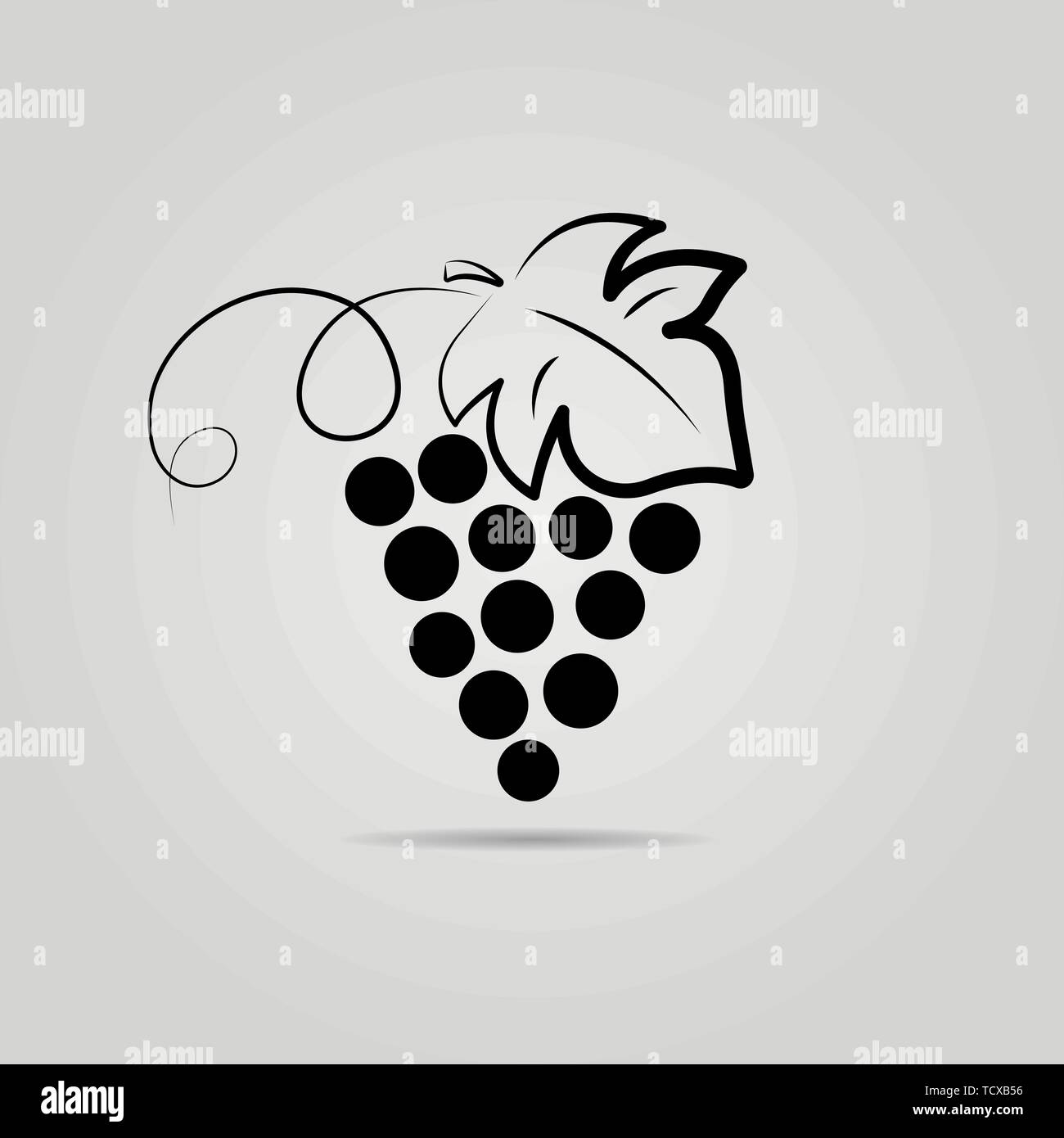 Bunch of grapes. Wine background. Logo design for the company. - Stock Vector
