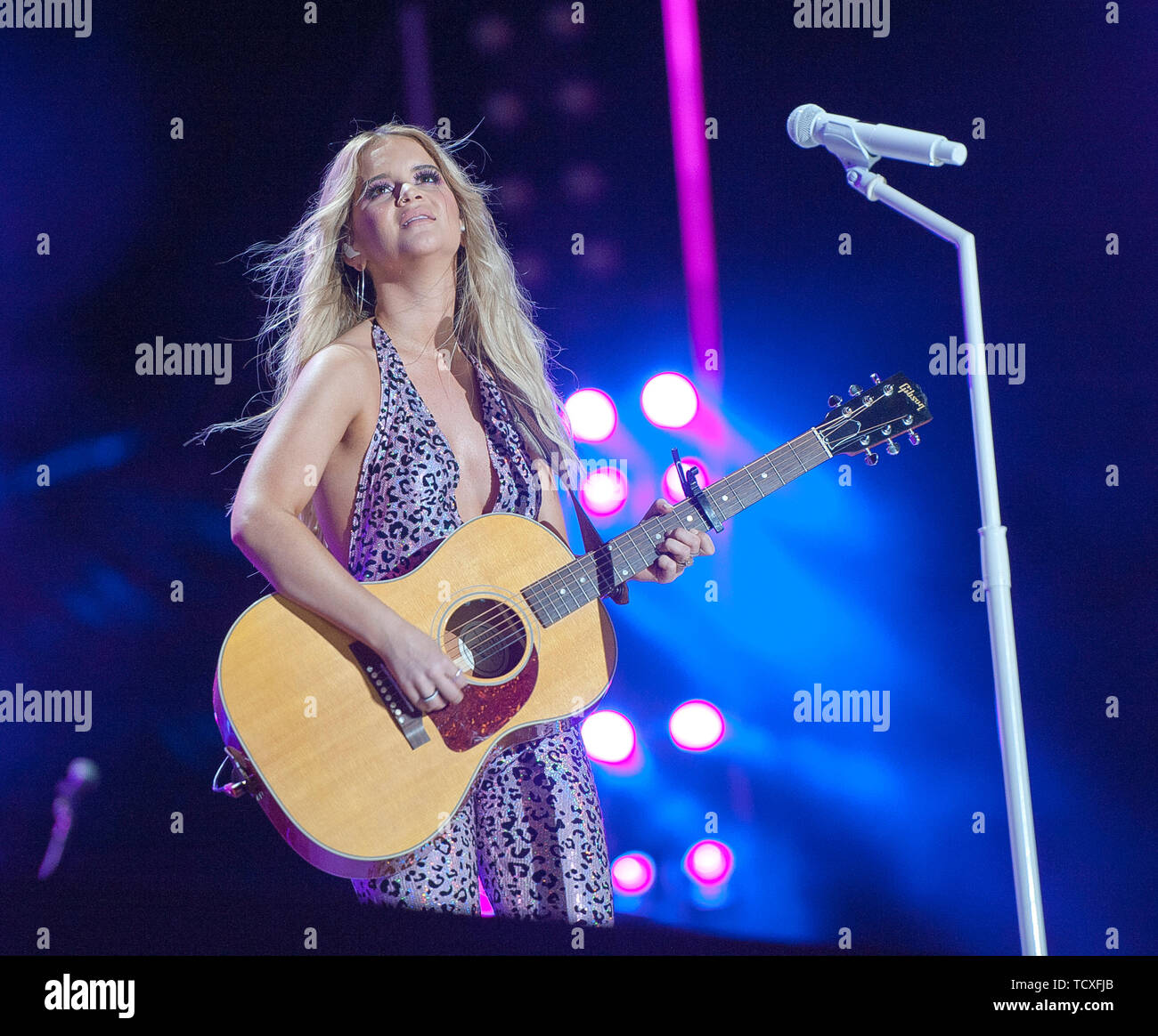 June 9, 2019 - Nashville, Tennessee; USA -  Musician MAREN MORRIS performs live at Nissan Stadium as part of the 2019 CMA Music Festival that took place in downtown Nashville.   Copyright 2019 Jason Moore. (Credit Image: © Jason Moore/ZUMA Wire) - Stock Image