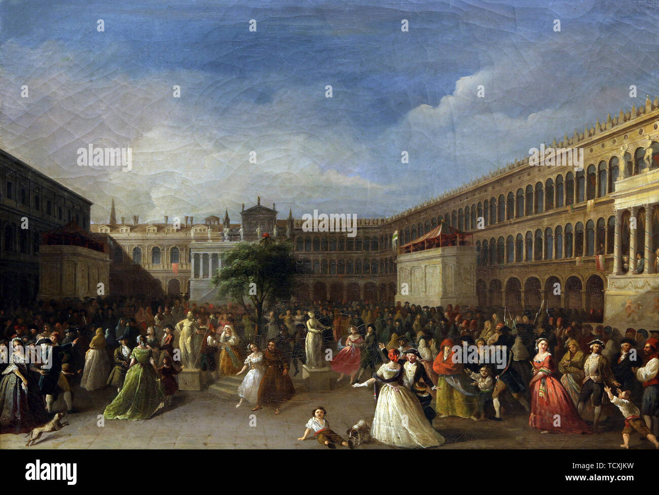The Tree of Liberty erected in the Piazza San Marco, 4 June 1797, 1797. Found in the Collection of Museo Correr, Venice. - Stock Image