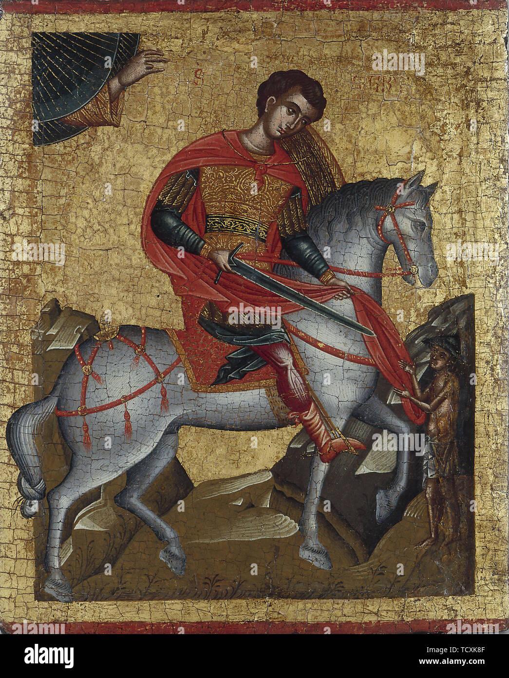 Saint Martin, c. 1500. Found in the Collection of Petit Palais, Musée des Beaux-Arts de la Ville de Paris. - Stock Image
