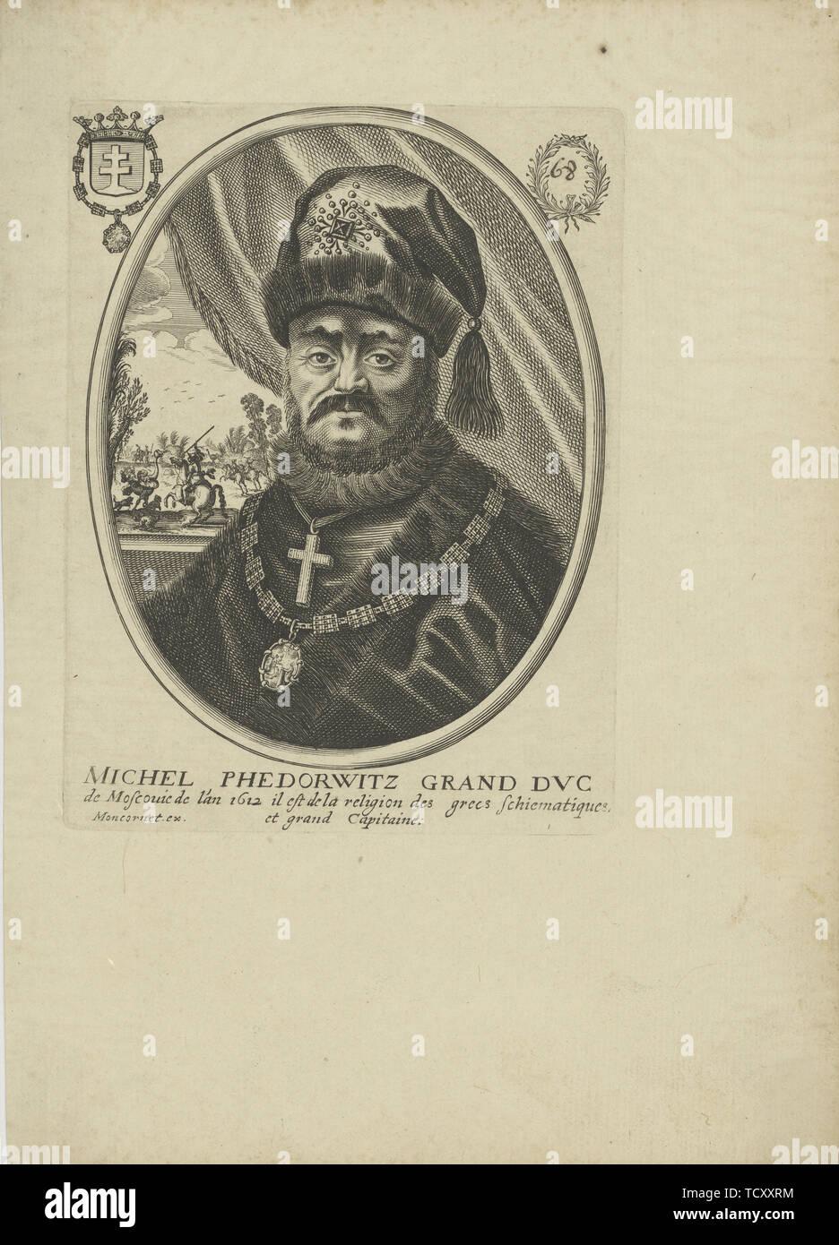 Portrait of the Tsar Michail I Fyodorovich of Russia (1596-1645), um 1640-1650. Creator: Moncornet, Balthazar (1600-1668). Stock Photo