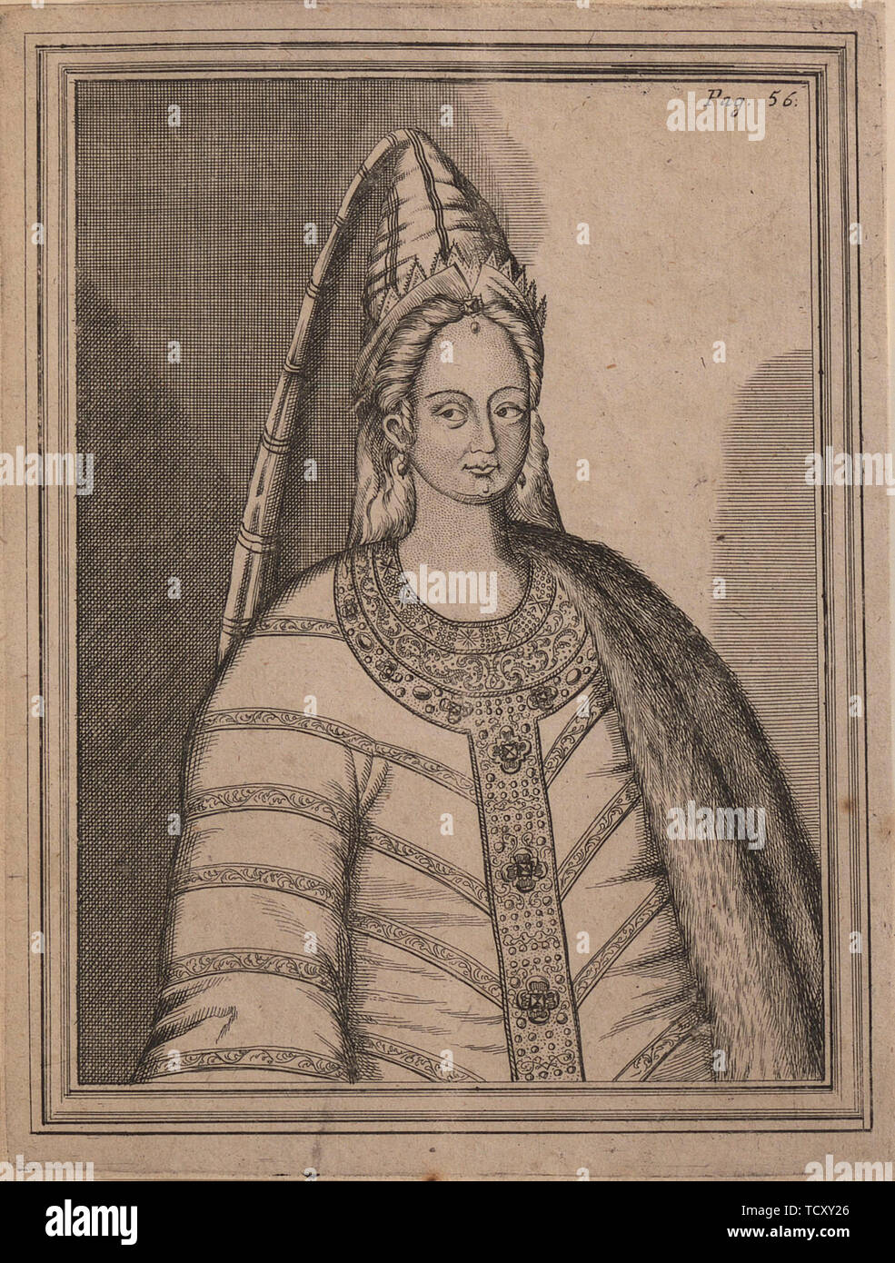 Tsarina Irina Godunova (1557-1603), the wife of Tsar Feodor I of Russia. Found in the Collection of Royal Collection, London. - Stock Image