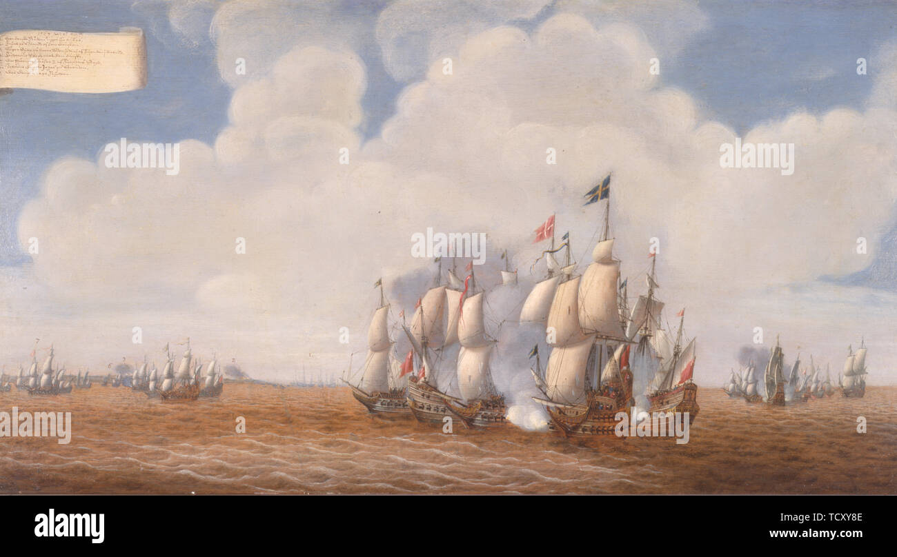 The first battle of Öland on 31 May 1564 , Second Half of the 17th cen.. Found in the Collection of Sjöhistoriska museet. - Stock Image