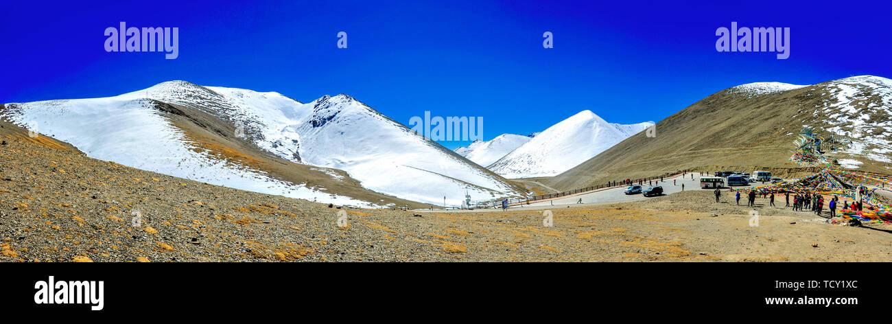 Naiqing Tangula mountain pass, Tibetan Nianqing Stock Photo
