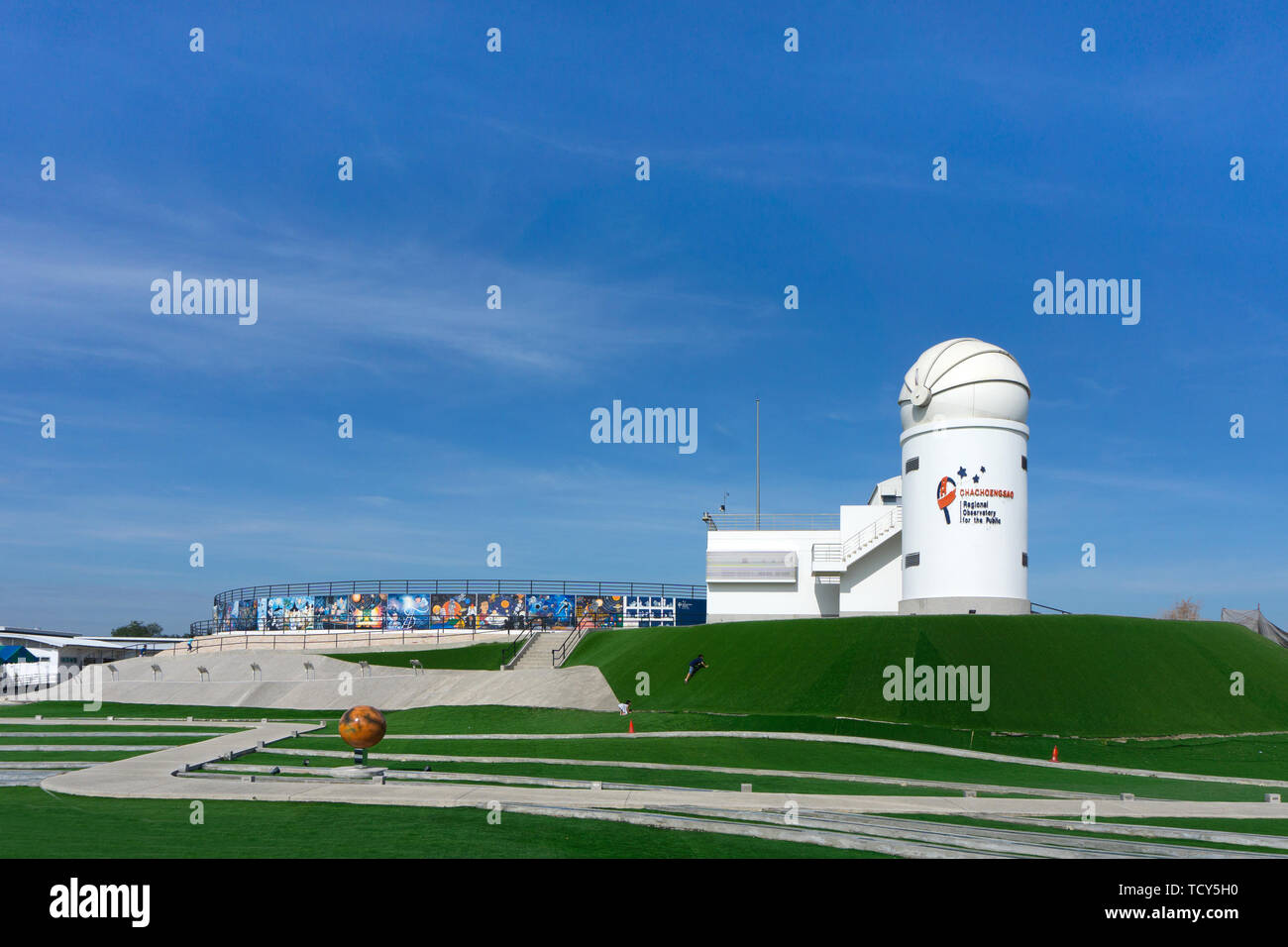 Chachoengsao, Thailand-December 15, 2018: Regional Observatory for the Public, Places to learn about astronomy. - Stock Image
