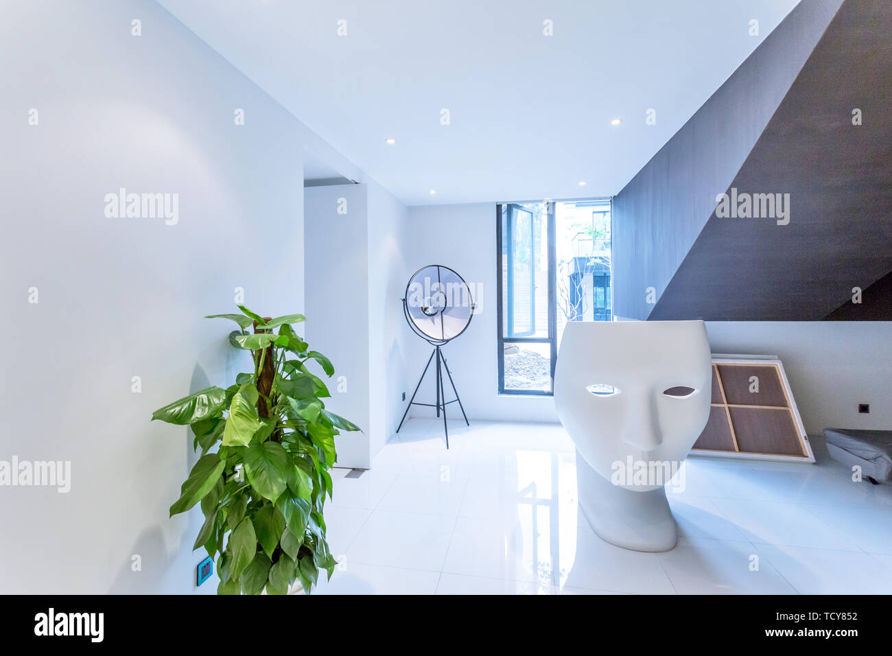 corner of the artistical room - Stock Image