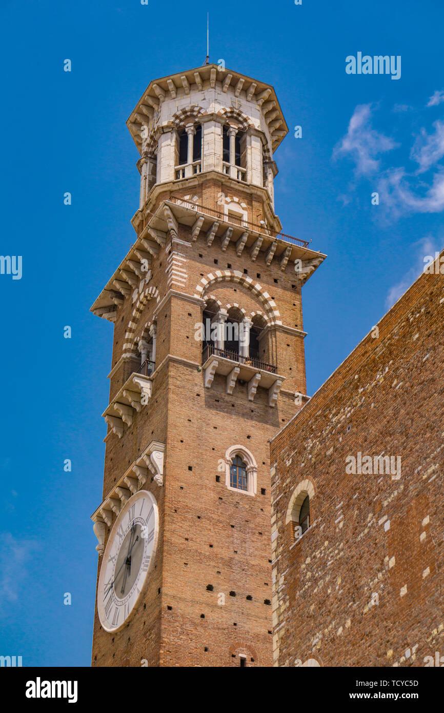View at Torre dei Lamberti in Verona, Italy - Stock Image