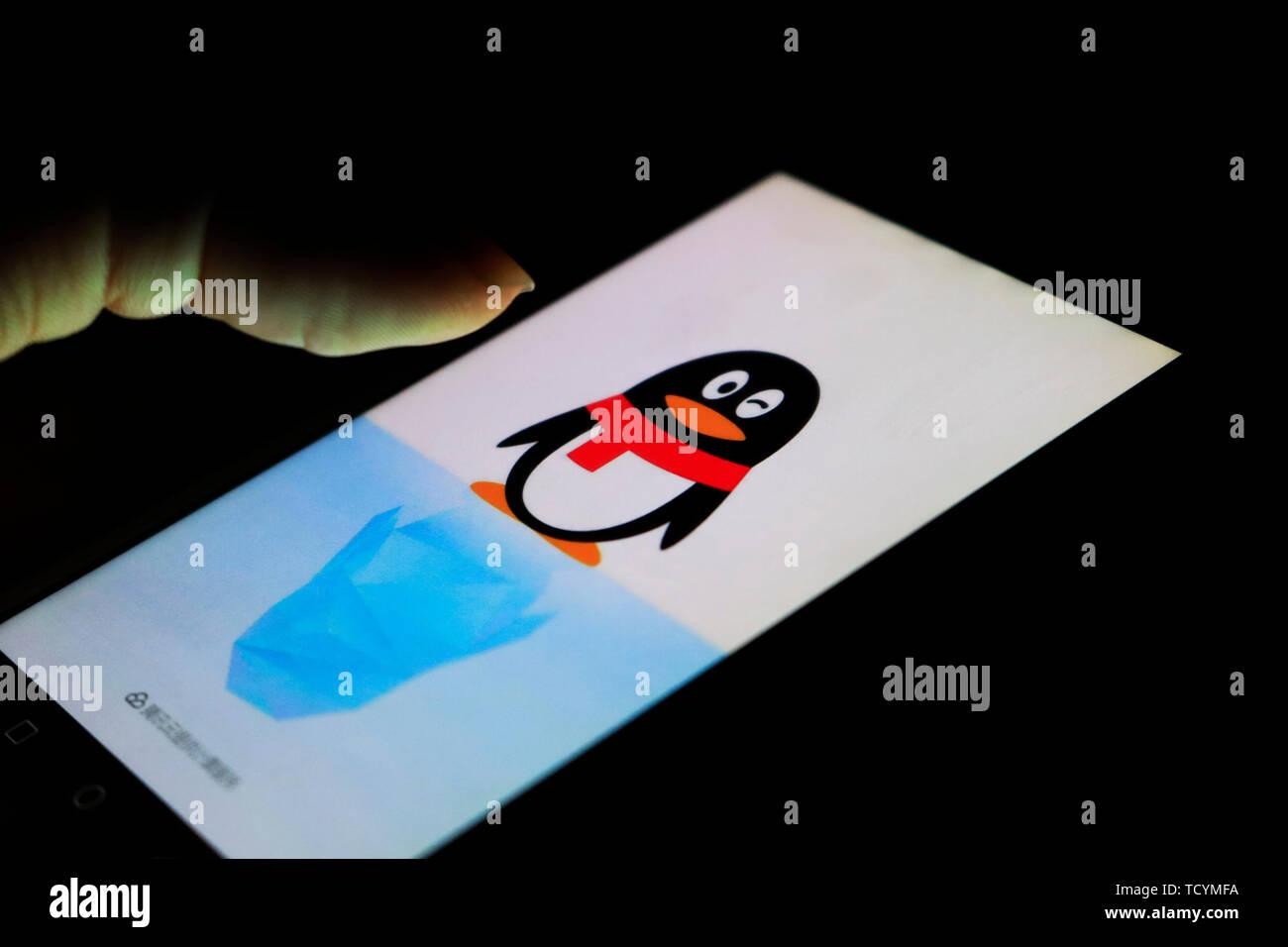 Qq Tencent Qq Mobile Phone Qq Stock Photo Alamy