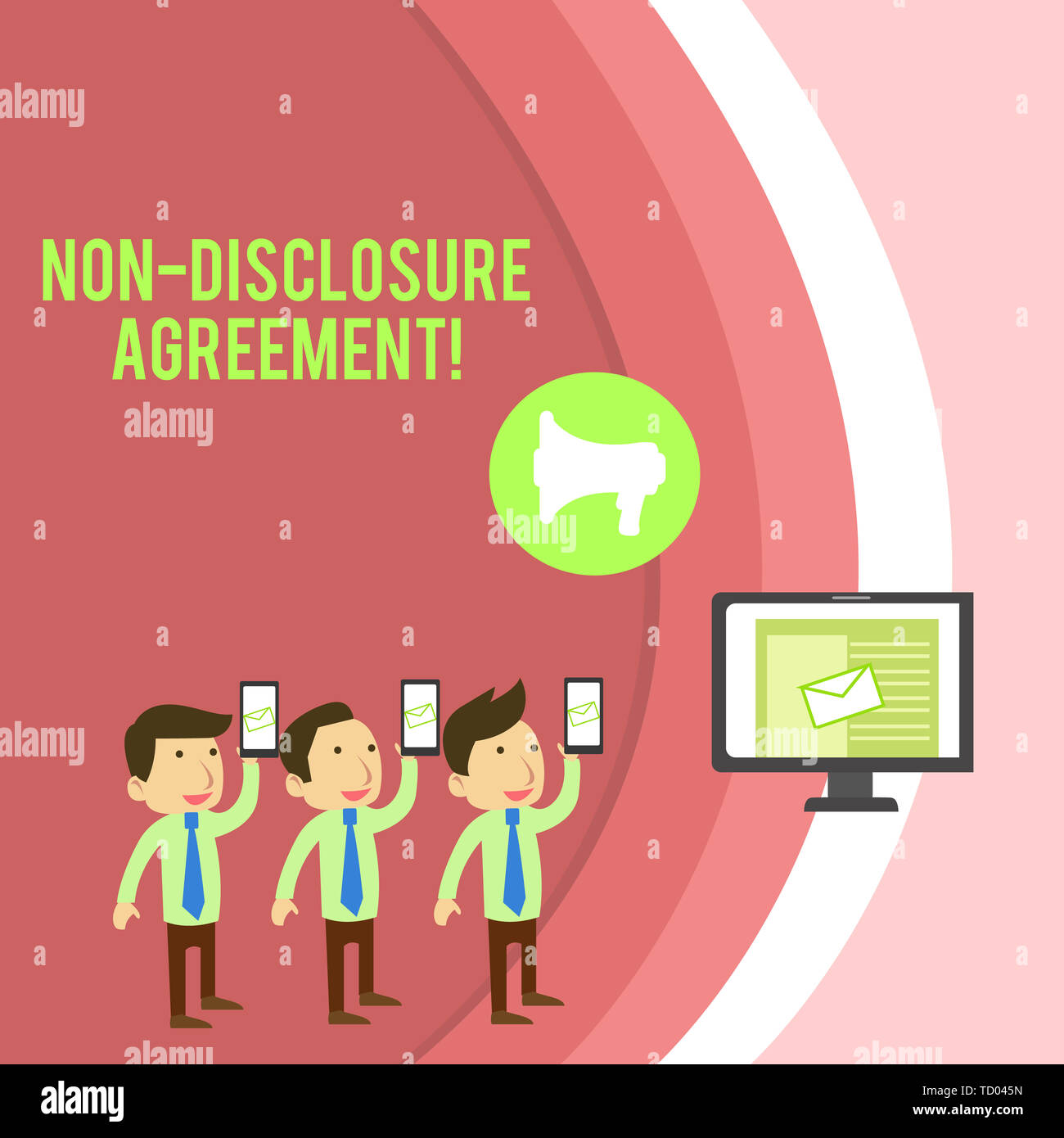 Conceptual Hand Writing Showing Non Disclosure Agreement