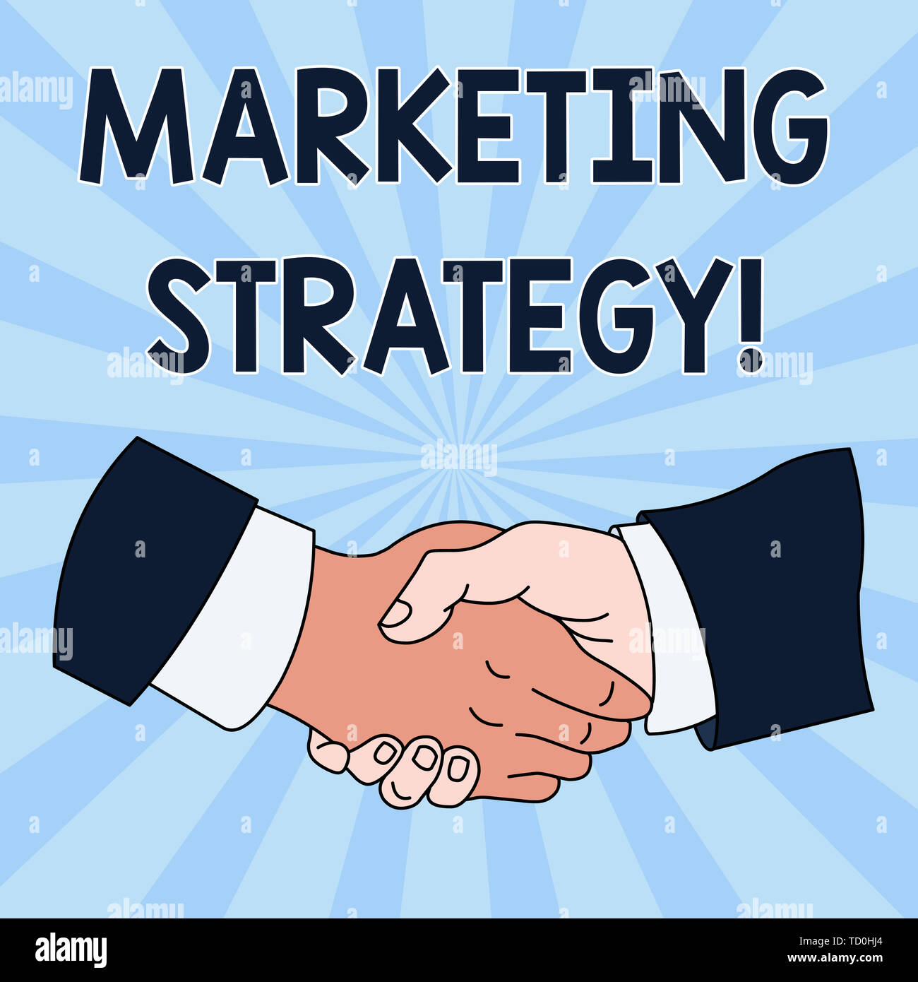 Conceptual hand writing showing Marketing Strategy  Concept