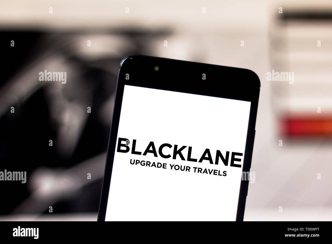 Brazil  7th June, 2019  In this photo illustration a Blacklane logo