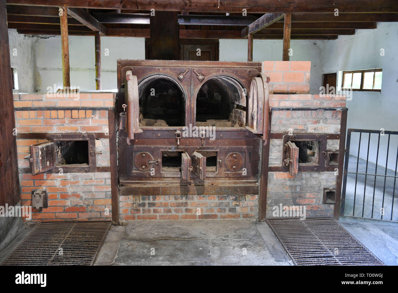 Dachau, Deutschland. 10th June, 2019. Gedenkstaette Concentration Camp Dachau Crematorium, Incineration, Memorial, Furnace for combustion, Incinerator, 1933, 1945, 3, Antisewithism, exterminate, Extermination, Bavaria, Dachau, Deportation, German, German History, Germany, third, Europe, fascism, fascists, fascist, Commemoration, Memorial, History, Jews, Concentration camp, Concentration camp, Memorial, National Socialism, Nazi, Nazi, Nazi, Reich, Crime, Past, Annihilation, Extermination Camp Usual worldwide Credit: dpa/Alamy Live News - Stock Image