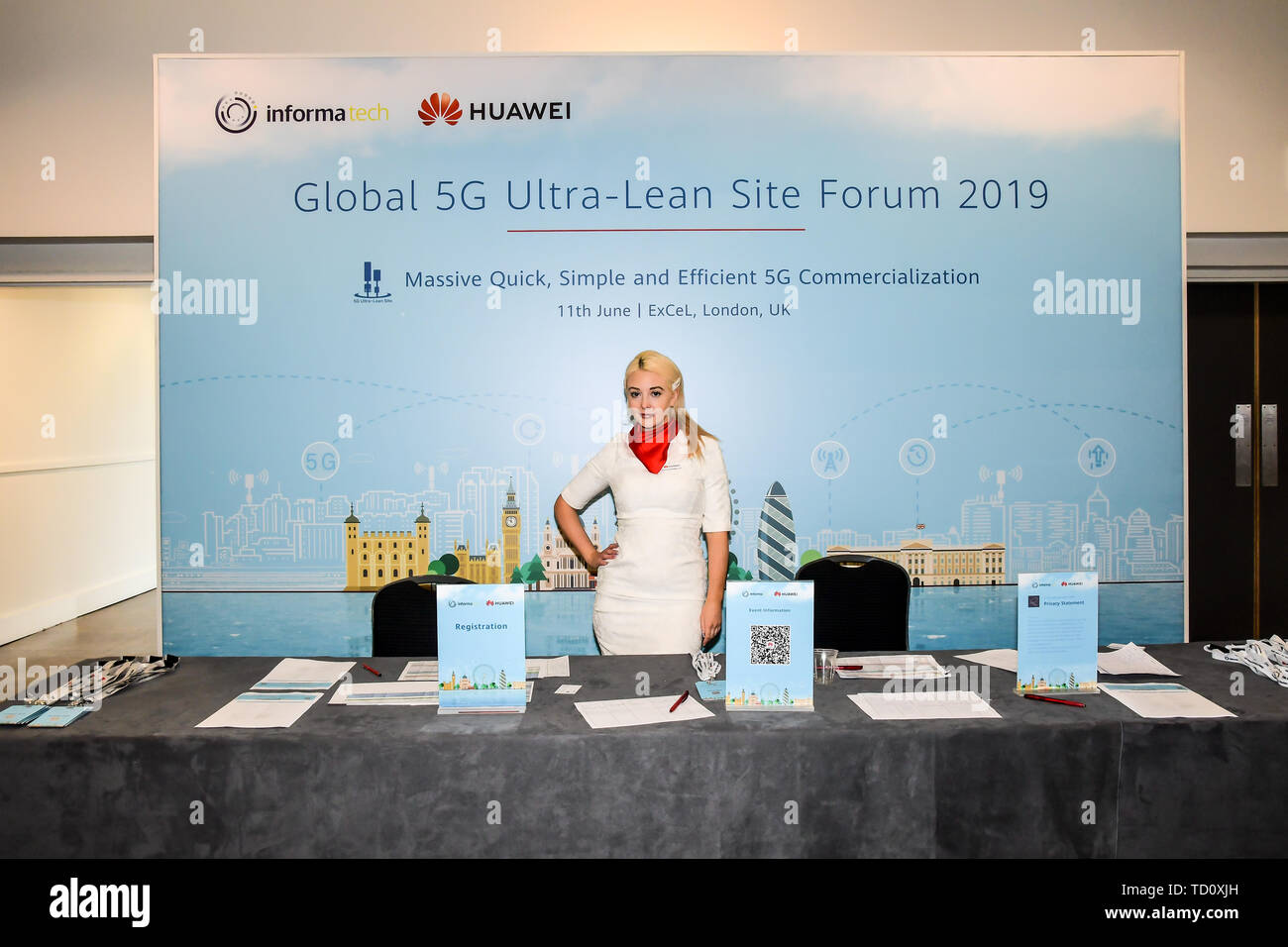 London, UK. 11th June, 2019. 5G World at Excel London, on 11 June 2019, UK Credit: Picture Capital/Alamy Live News - Stock Image