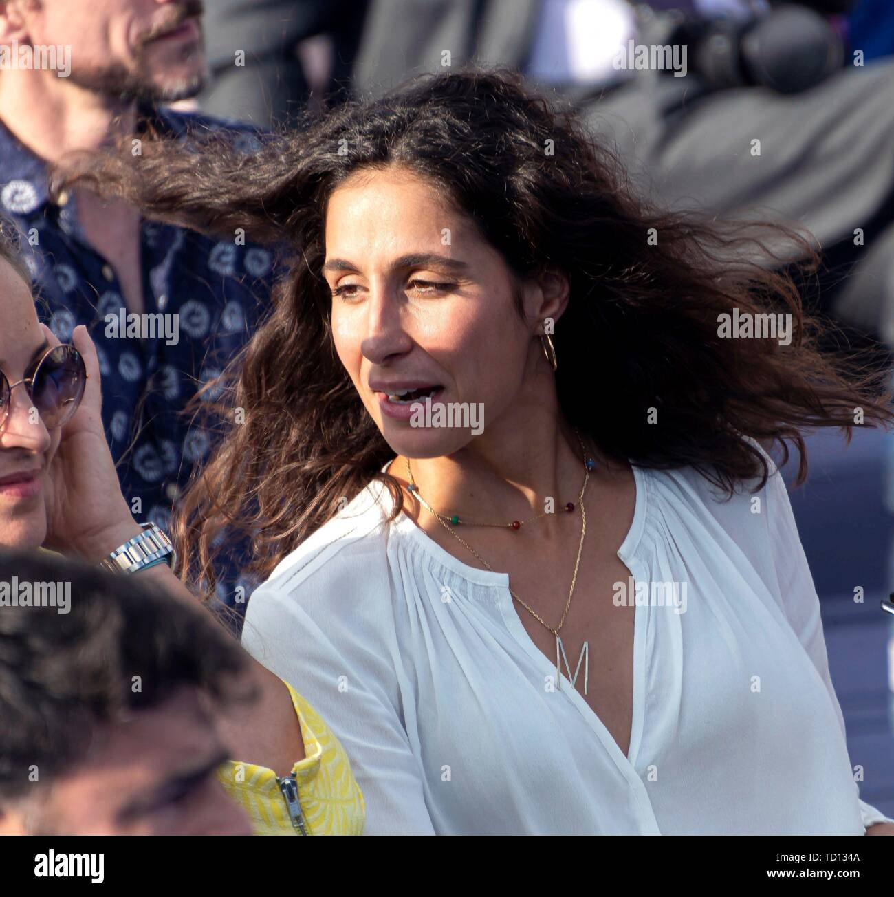 Manacor, Spain. 11th June, 2019. Xisca Perello, girlfriend of Spanish tennis player Rafa Nada, attends the graduation ceremony of Rafa Nadal Academy, students of American International School of Mallorca, in Manacor, Balearic Islands, Spain, 11 June 2019. Credit: CATI CLADERA/EFE/Alamy Live News Stock Photo