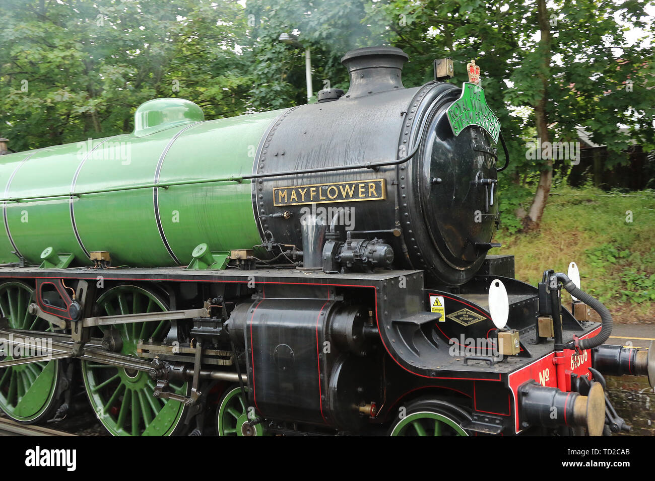 Mayflower LNER Thompson Class B1 61306 Steam Locomotive, The Royal Windsor Steam Express, Hounslow Railway Station, London, UK, 11 June 2019, Photo by Stock Photo