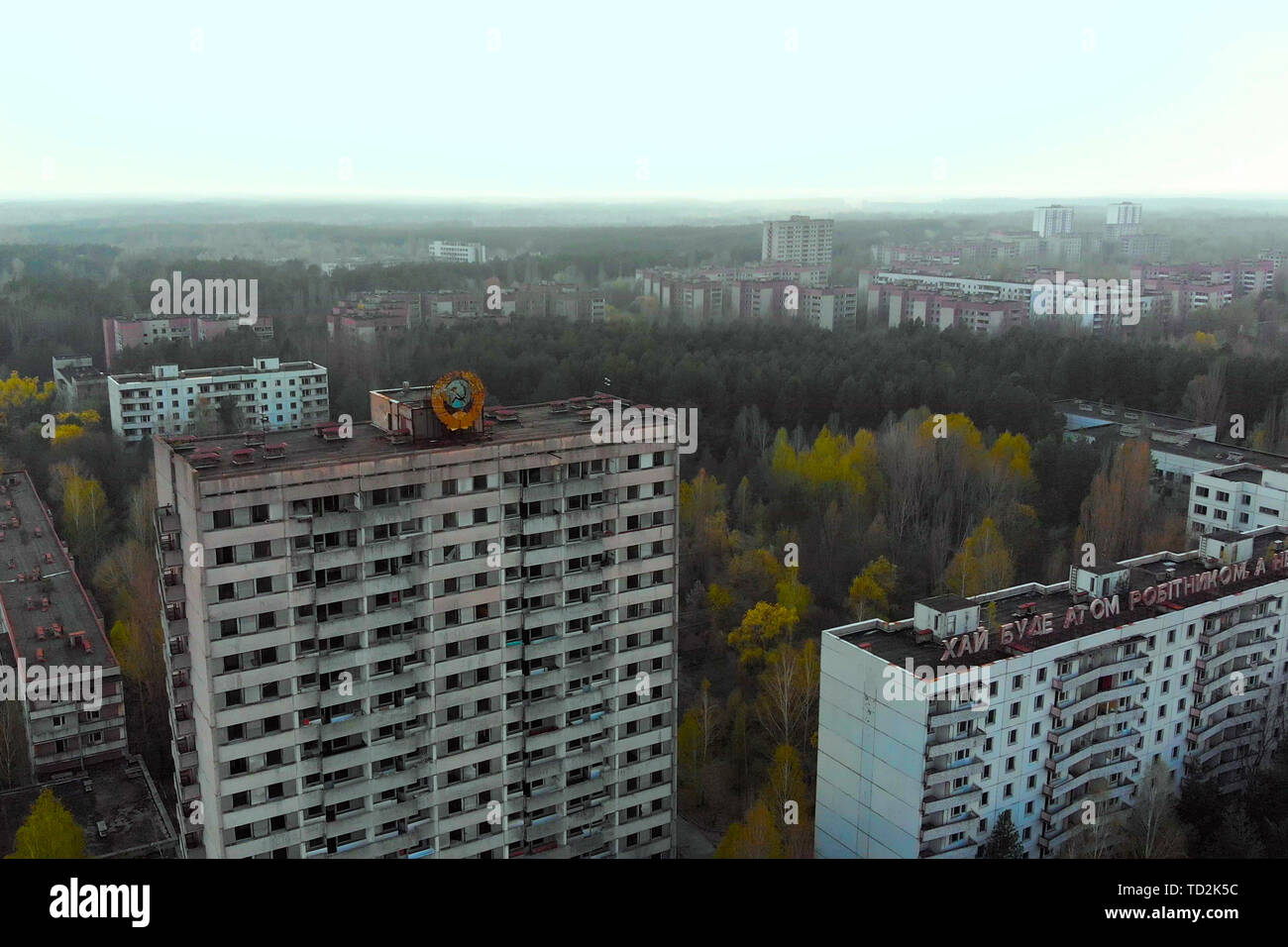 City of Pripyt near Chernobyl nuclear power plant - Stock Image