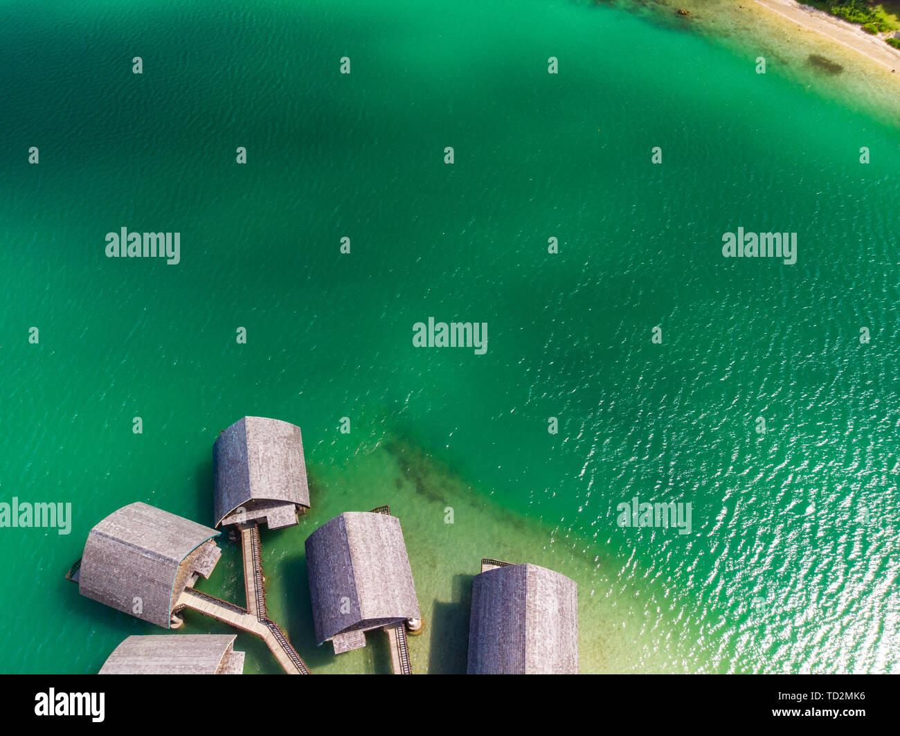 Tropical holidays, Efate, Port Vila, Vanuatu, drone view - Stock Image