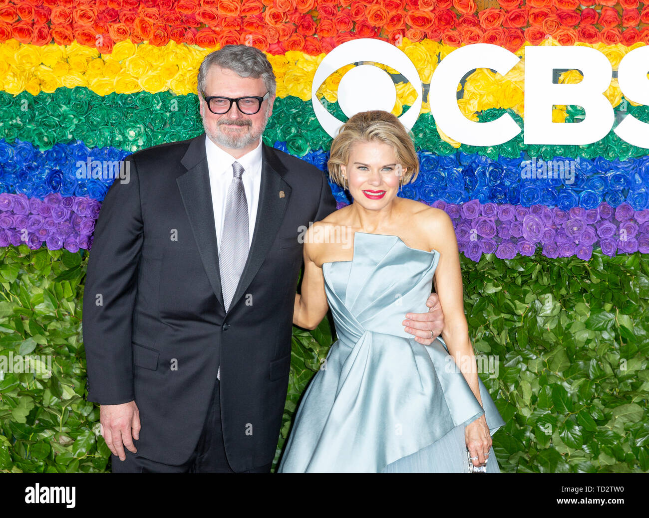 New York, United States. 09th June, 2019. John Ellison Conlee and Celia Keenan-Bolger attend the 73rd annual Tony Awards at Radio City Music Hall Credit: Lev Radin/Pacific Press/Alamy Live News - Stock Image