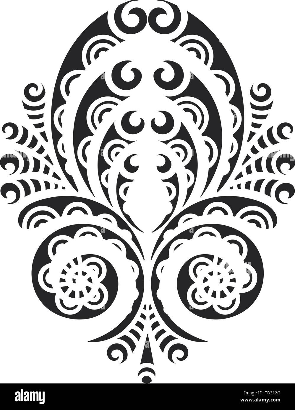 Vintage Decorative Calligraphic Borders Template Signage