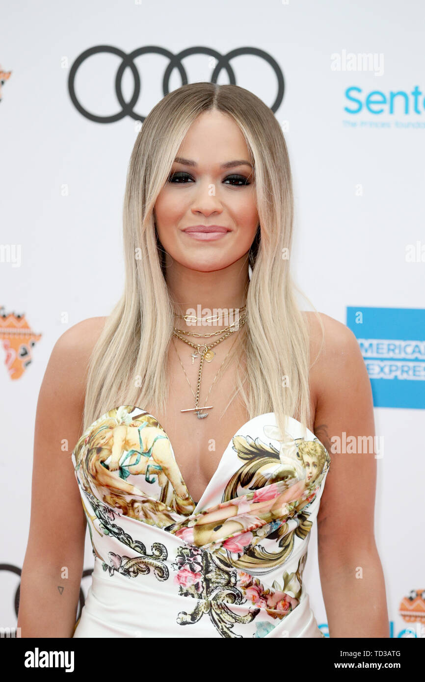 rita ora arrives for a concert hosted by sentebale in