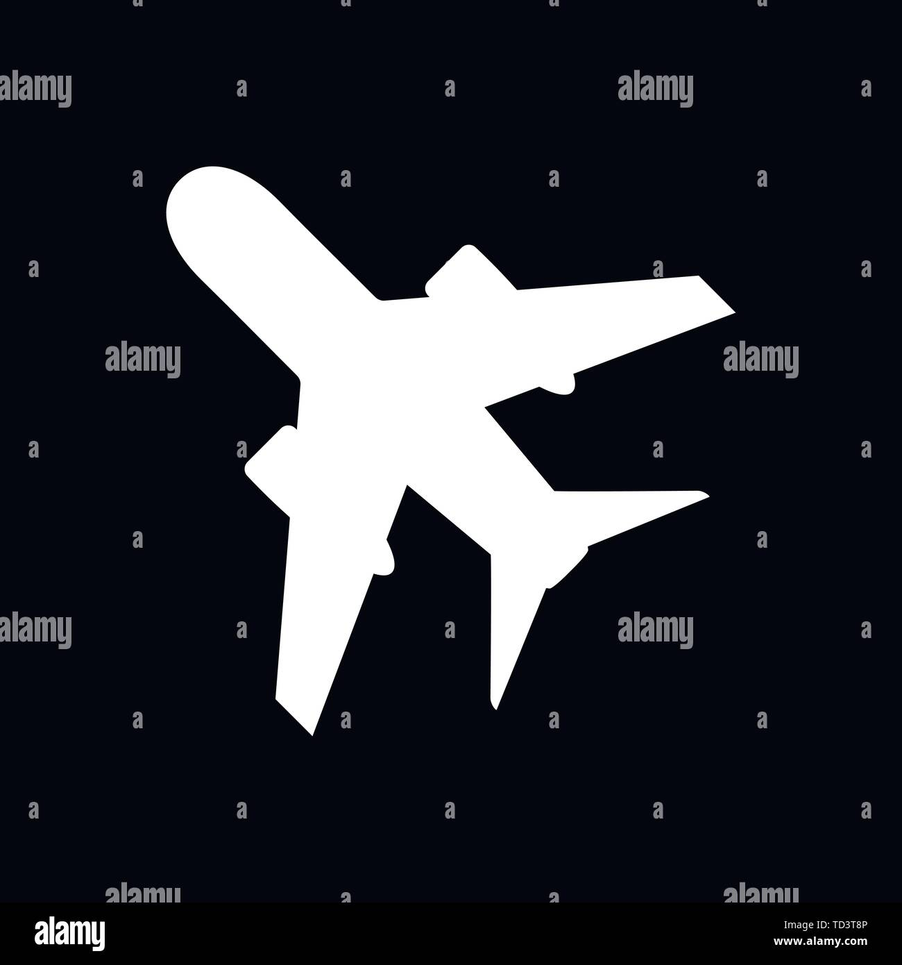 Plane Icon On White Background Airplane Icon Vector Flat Icon