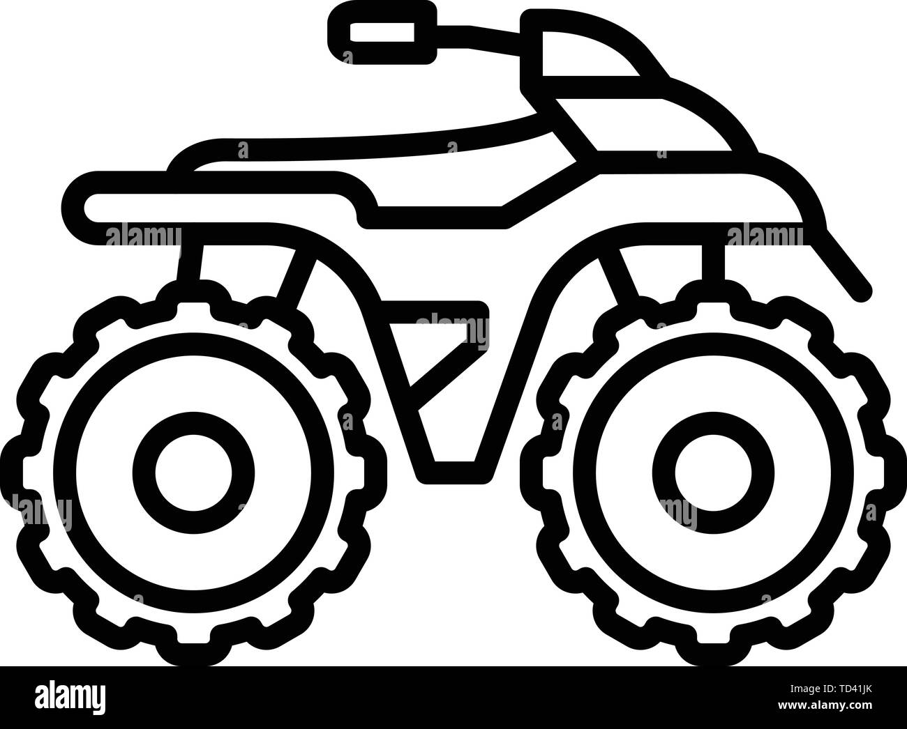 Side Quad Bike Icon Outline Style Stock Vector Image Art Alamy