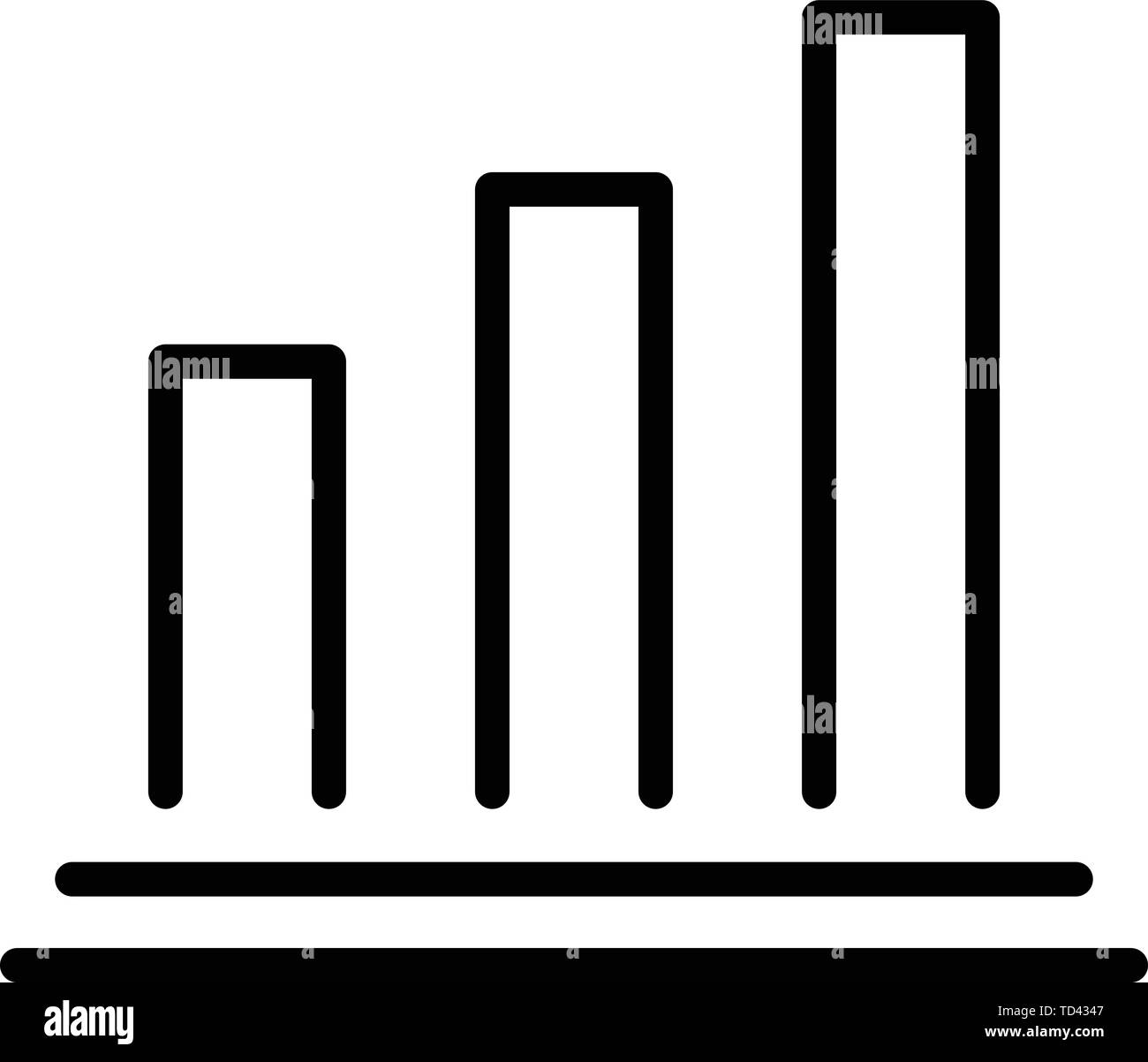 Mortgage histogram icon, outline style - Stock Vector