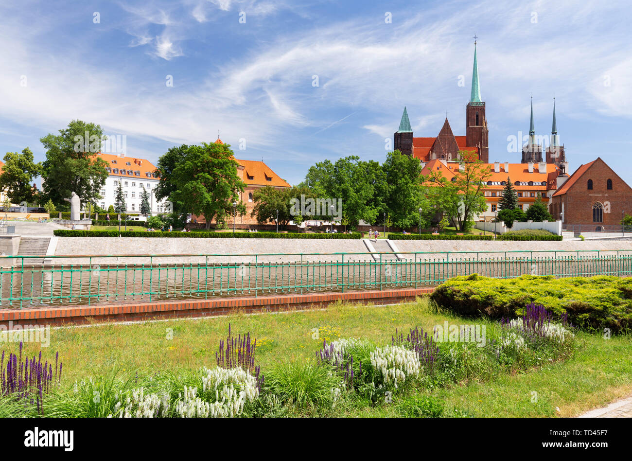 Wroclaw in Poland. Old quater with gothic architecture Stock Photo