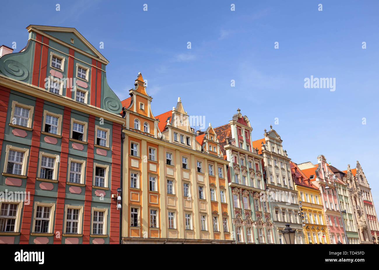 Wroclaw / Poland. Historical architecture on the main square Stock Photo